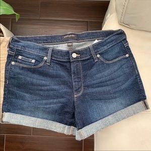 Banana Republic Cuffed Dark Wash Jean Shorts 30/10